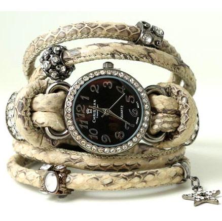 DIY Armbanduhr aus Schlangenleder